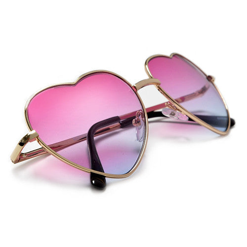 Adorable Heart Shaped Colorful Ombre Lens Sunnies