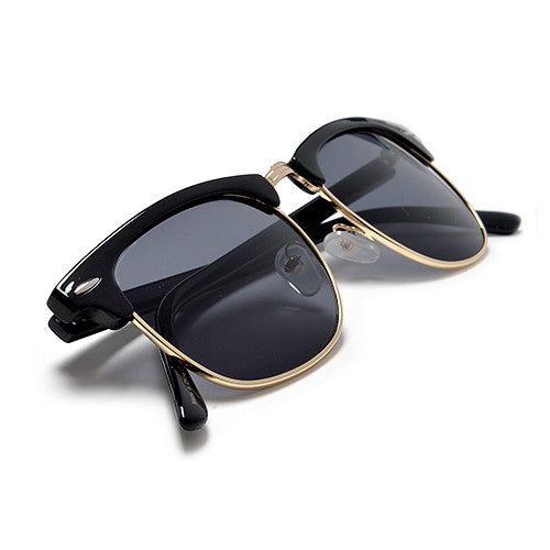 2 Pack Classic Original Half Frame Semi-Rimless Sunglasses