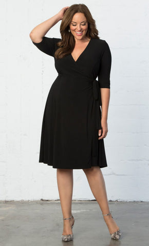 Essential Wrap Dress - Black