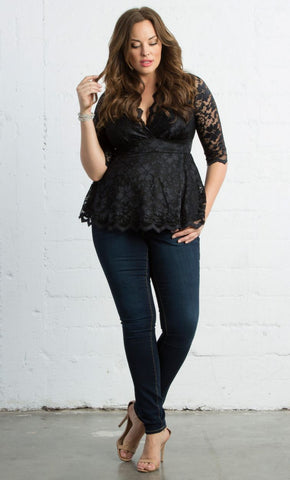 Linden Lace Top - Black