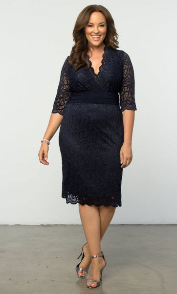 Lumiere Lace Dress - Moonlit Navy