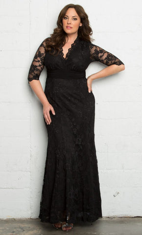 Screen Siren Lace Gown - Onyx