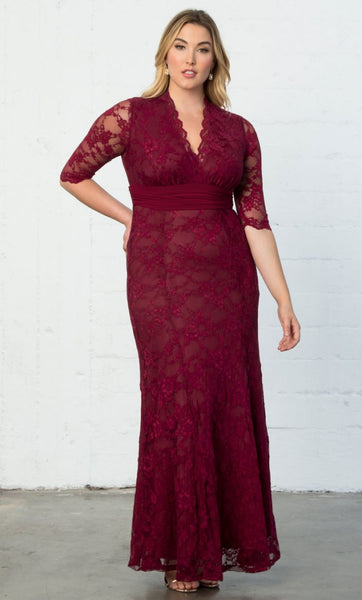 Screen Siren Lace Gown - Rose Wine