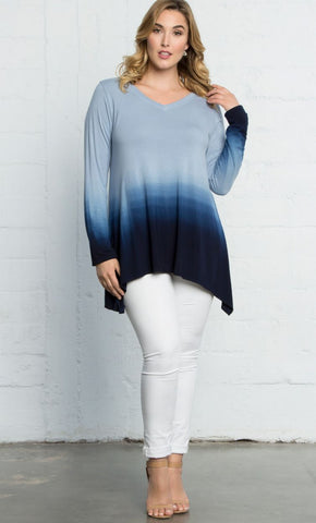 Surrender Tunic - Blue Ombre