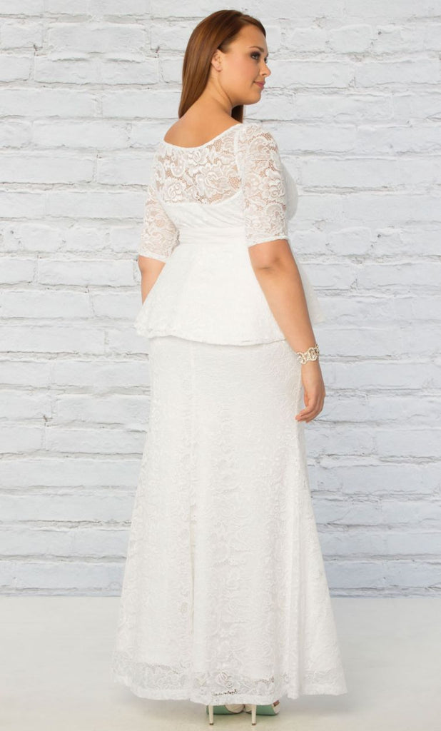 Poised peplum wedding gown curvalicious clothes poised peplum wedding gown poised peplum wedding gown junglespirit Gallery