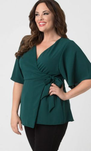 Chic Chiffon Blouse - Green Ivy