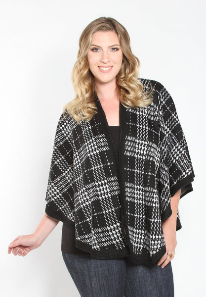 Circle Hem Poncho - Black