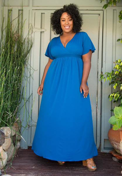 Classic Maxi Dress - Royal Blue