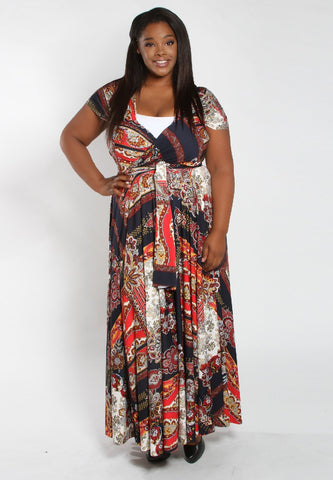 Eternity Convertible Printed Maxi Dress