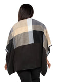 Fleece Poncho - Neutral w/Pockets