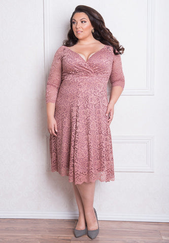 Francesca Lace Dress - Rose