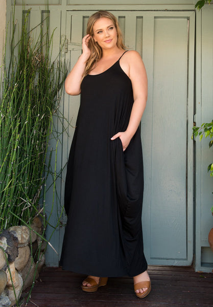Layla Maxi Dress - Black