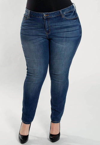 Plus Size Mid-Rise Skinny Jean