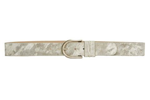 Neutral Tones Italian Leather Belt
