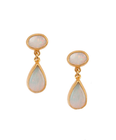 Ethiopian Opal Drop Earring