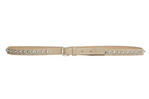 Italian Leather Belt With Swarovski Crystals