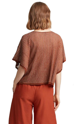 Organic Linen Stripe Box Top