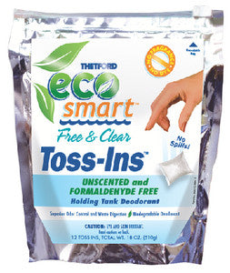 Ecosmart™ Free and Clear Holding Tank Deodorant Toss-Ins, 12/Pk