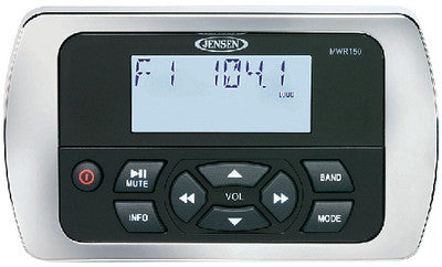 Jensen Marine Full Display Wired Marine Remote Control for MS and MSR Series Remote Capable Stereos