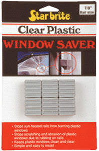 "1"" Clear Plastic Window Saver, 6/Pk"