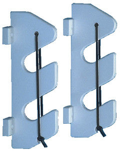 2 Rod Holder w/Bungee & Bracket White