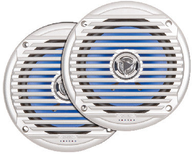 "Jensen Marine 6.5"" Waterproof Silver Marine Speakers - Sold as Pair"