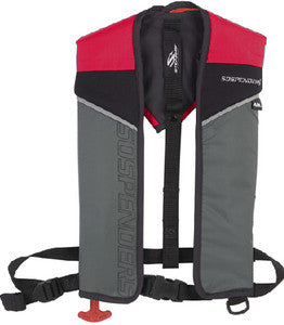 1431 - 24 Gram Auto/Manual Inflatable Vest, Red