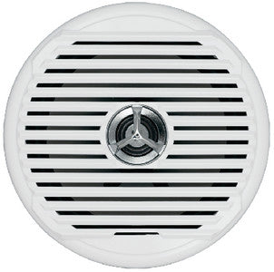 "Jensen Marine 6.5"" High Performance Coaxial Marine Speakers With White and Silver Grills - Sold as Pair"