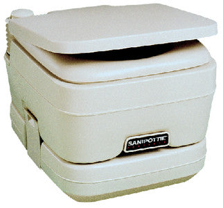 SeaLand 2.5 Gallon Adult Size SaniPottie 962 Portable Toilet With Bellows Flush