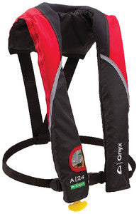 A-24 In-Sight Automatic Inflatable Life Jacket, Red/Black