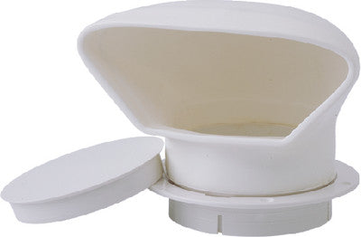"3"" PVC Low Profile Cowl Vent, White"