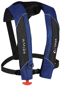A/M-24 Automatic/Manual Inflatable Life Jacket, Blue