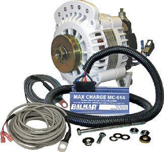 "Alternator Kit w/ARS Regulator, Temp Sensors, Single 1/2"" Pulley"