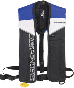 1271 - 24 Gram Blue Manual Inflatable Vest