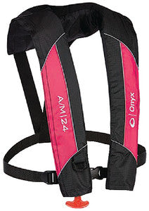 A/M-24 Automatic/Manual Inflatable Life Jacket, Pink