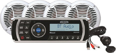 CPM200 AM/FM/USB/BLUETOOTH Stereo Package w/4 Speakers
