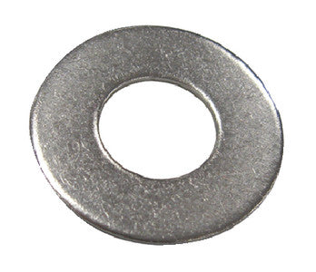 1/4 S/S Flat Washer-10/Cd