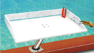 "Bait/Filet Mate Table 31"" x 12-1/2"", White"