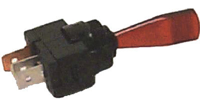 2 Pos Duckbill Lighted Toggle Swtch, Red
