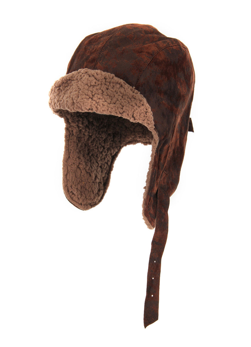 Lined Aviator Hat: Brown