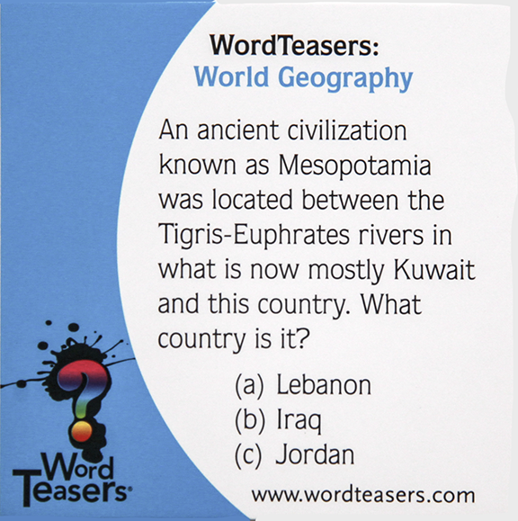 Word Teasers: World Geography
