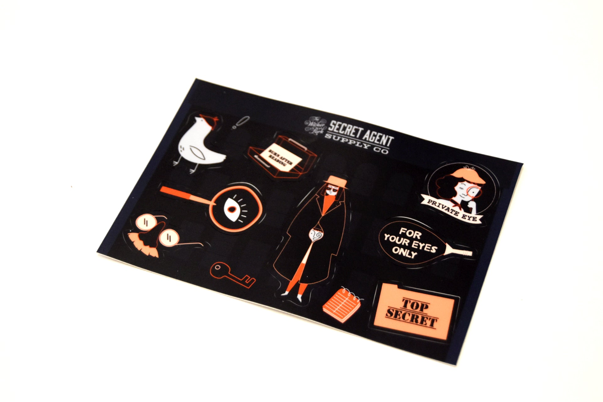 Secret Agent Supply Sticker Sheet