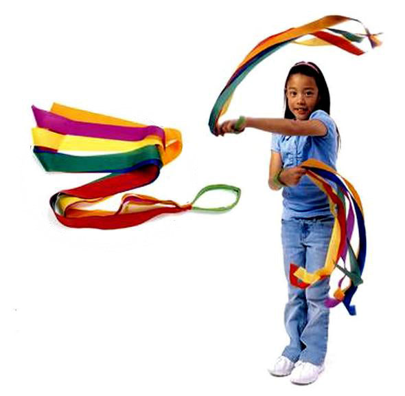 BOHS Rainbow Ribbon  Children's Sports Rhythmic Gymnastics Exercises Cheerleading Fitness Toys 100cm