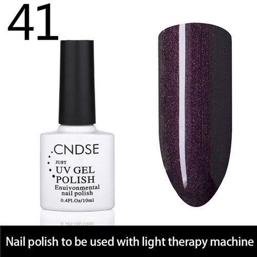 CNDSE 96 Solid Color Fashion Gel Nail LED UV Nail Gel Polish Soak Off Long Lasting LED Nail Polish Lacquer 10ML Gelpolish