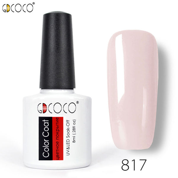 #70312 CANNI factory supply GDCOCO brand 8ml primerbase coat, reinfor gel, no wipe top coat, matt top coat color gel nail polish