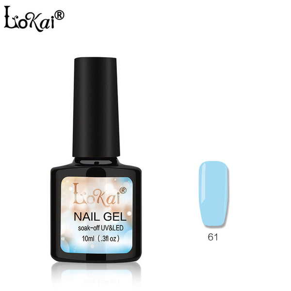 Lokai Gel UV Vernis Semi Permanent 10ML UV Nail Gel Polish Soak Off Long Lasting LED Nail Polish Gel Lacquer 90 Colors 61-90