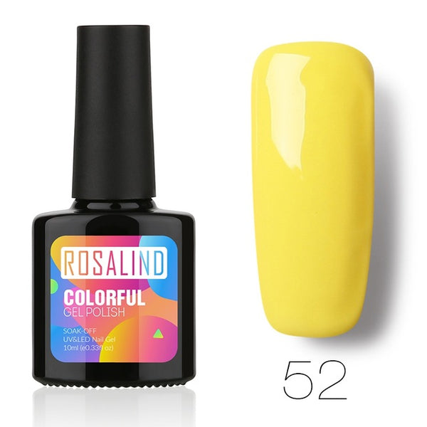 Rosalind 10ML Nail Gel Soak-Off UV LED primer Gel Nail Polish Long-lasting gel varnishes 31-58Color Optional