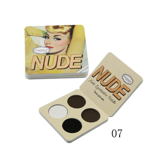 Brand Makeup Matte Eye Shadow Palette 4 Color The Nude Minerals Powder Pigments Cosmetics Glitter Eyeshadow Make Up Palette