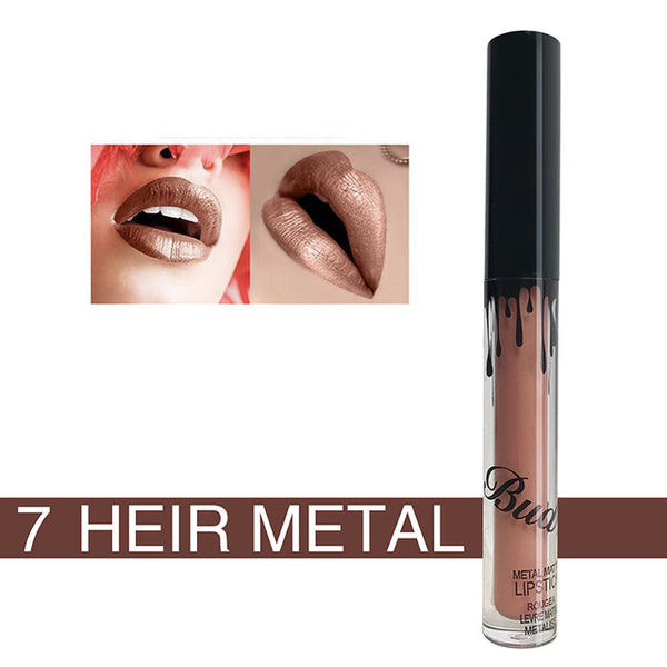 BUD K Brand liquid lipstick glitter Hot Sexy Colors waterproof Long Lasting mate Lip gloss pen Make up red with matte lip baton