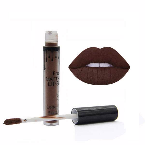 FOONBE Lips Makeup 1 Pcs Matte Lip Gloss Maquiagem Brand Matt Liquid Lipstick Women Make up Cosmetics Mate Batom Beauty Lipgloss